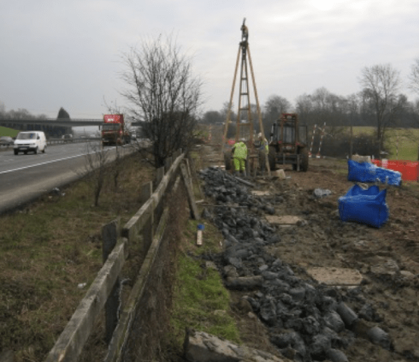 M25 Rooks Nest Farm Slope Stabilisation