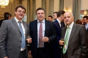 L to R - Dickie Dexter (J Gallager Tunnelling), Andrew Morgan (Tunnelling Consultant), Toby Roberts (WJ Groundwater Chairman))