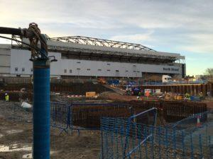 Dewatering works at White Hart Lane.