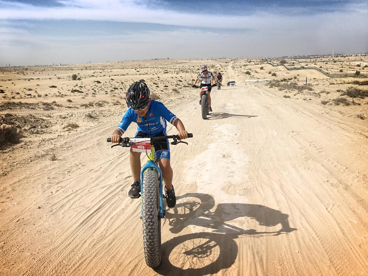 Jason's son Jack taking part in the 20 km off road Pulse Cycling event on his 'Fat Boy'.