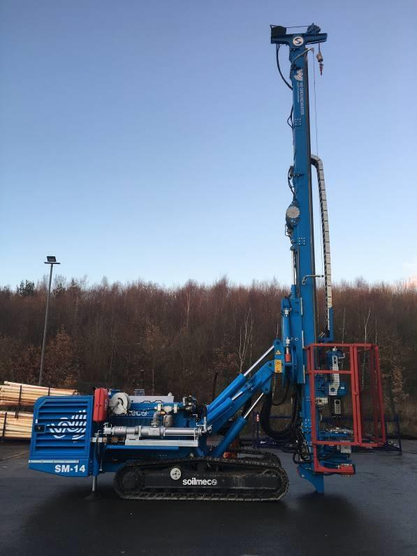 The Soilmec SM14 rotary drill