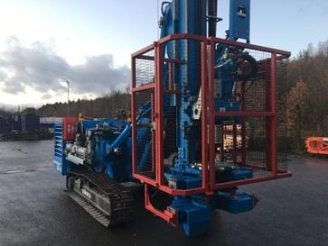 The Soilmec SM14 rotary drill up close