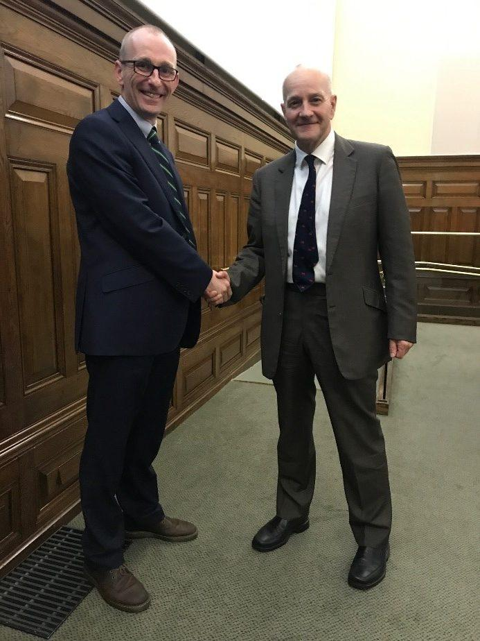 WJ Groundwater Chairman, Dr Toby Roberts, with former colleague and BGA Chairman Dr Martin Preene