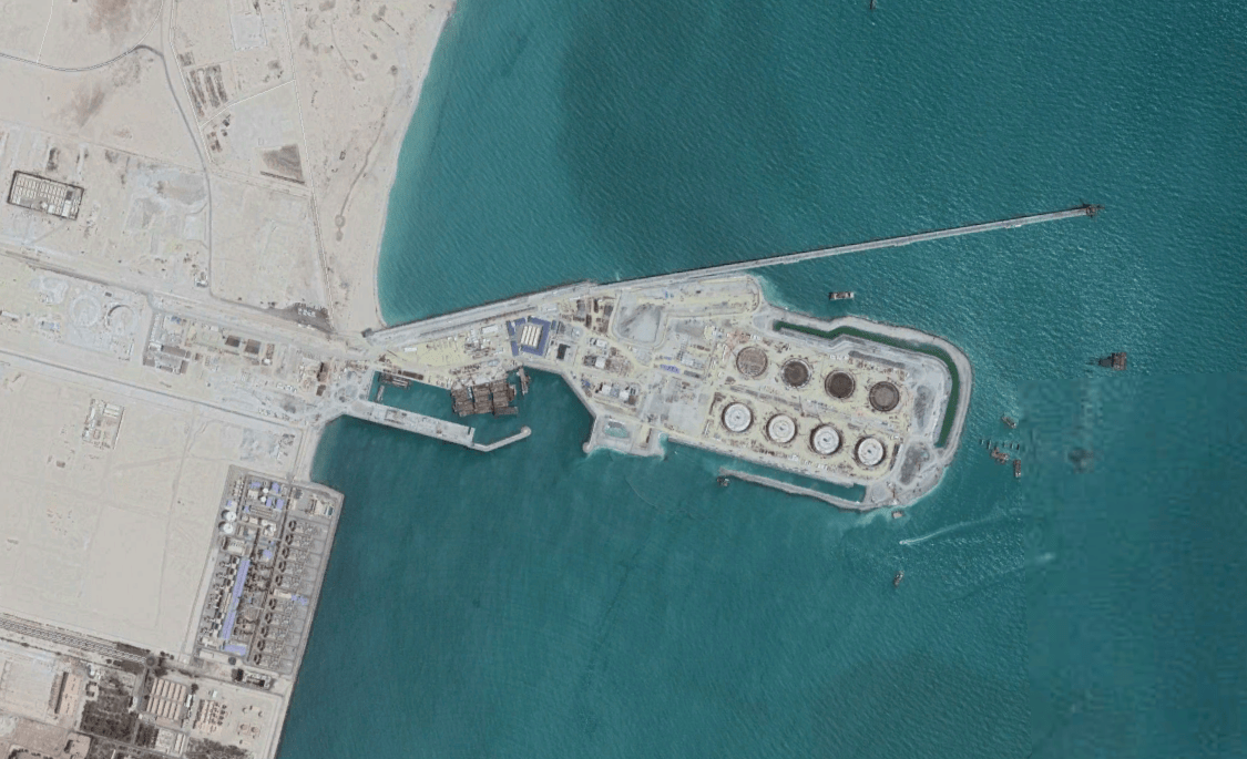 A view from above of the project WJ worked on in Kuwait
