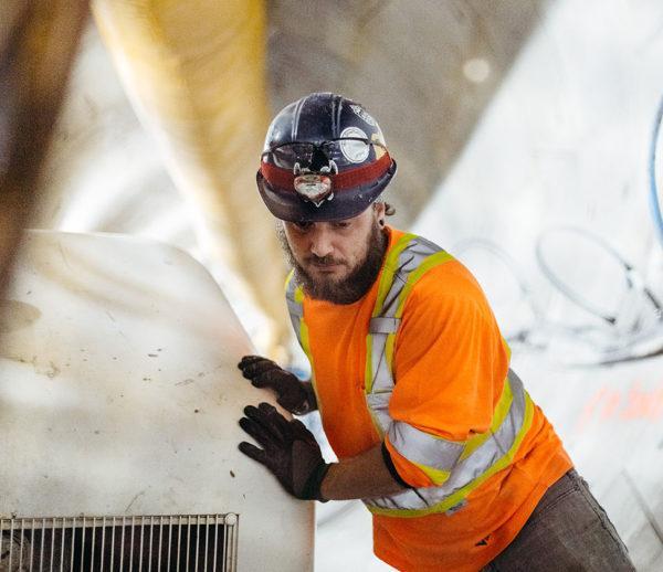 WJ Canada site worker