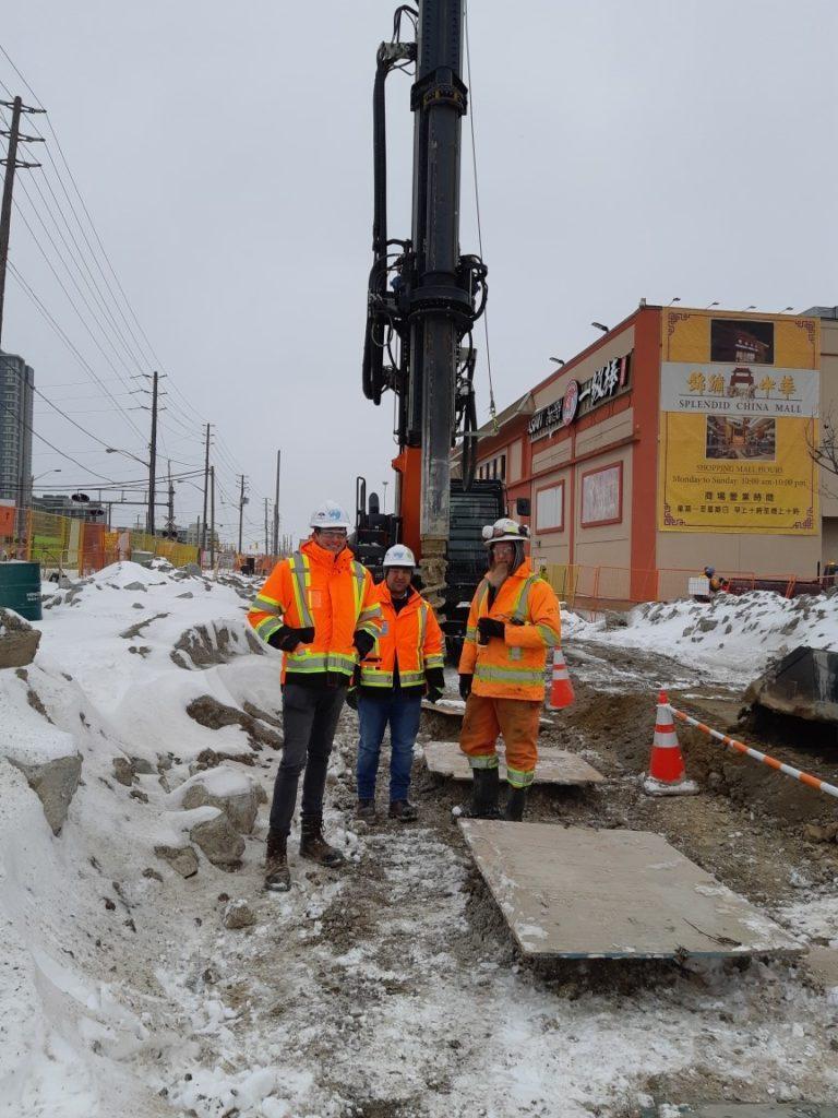 Jack (left) on site in Toronto