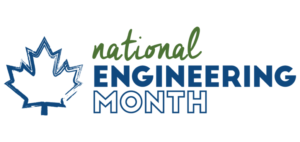 The logo for National Engineering Month in Canada